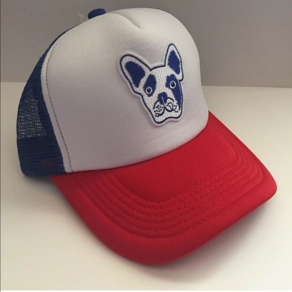 6a4d48ed362a4 NWT Frenchie Bulldog Patch Trucker SnapBack Hat
